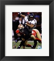Framed Ray Rice Super Bowl XLVII Action