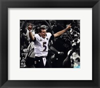 Framed Joe Flacco Super Bowl XLVII Spotlight Celebration