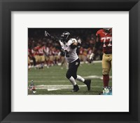Framed Ray Lewis Celebrates the final play of his NFL career Super Bowl XLVII