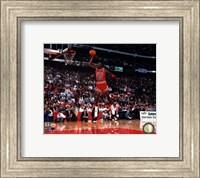 Framed Michael Jordan 1988 NBA Slam Dunk Contest Action