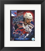 Framed Rick Nash 2013 Portrait Plus