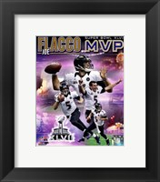 Framed Joe Flacco Super Bowl XLVII MVP Portrait Plus