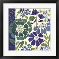 Framed Blue Garden I