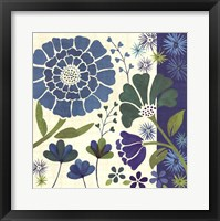 Framed Blue Garden II