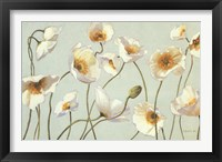 Framed White And Bright Poppies