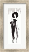 Framed Fifties Fashion IV with Red