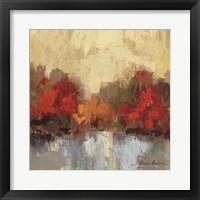 Framed Fall Riverside I