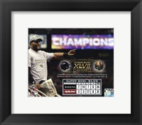 Framed Ray Lewis Super Bowl XLVII Champion Overlay