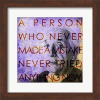 Framed Einstein – Never Made a Mistake Quote