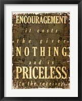 Encouragement Quote Framed Print