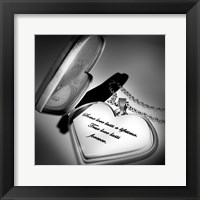 Framed Locket Love Quote