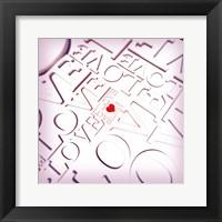 Framed Love Type Pattern