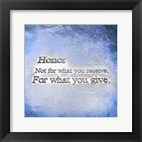 Framed Honor Quote II