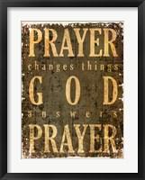 Prayer Quote Framed Print