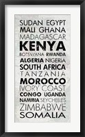 Framed African Countries I
