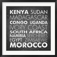Framed African Countries
