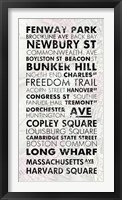 Framed Boston Cities I