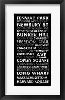 Framed Boston Cities II