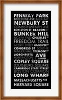 Framed Boston Cities II