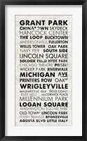 Framed Chicago Cities I