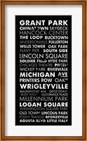 Framed Chicago Cities II