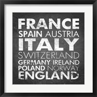Framed European Countries