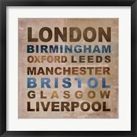 Framed United Kingdom Cities I