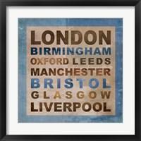 Framed United Kingdom Cities II