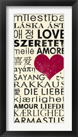 Framed Love Around the World with Red Boarder