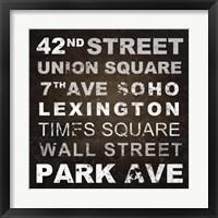 Framed New York Places I