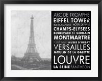 Framed Eiffel Tower Paris