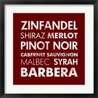 Framed Red Wine I