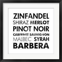 Red Wine III Framed Print
