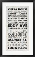 Framed Sydney I