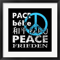 Blue Peace Square II Framed Print