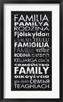 Framed Family in Different Languages