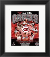 Framed Cincinnati Reds All-Time Greats