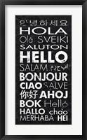 Framed Hello in Different Languages
