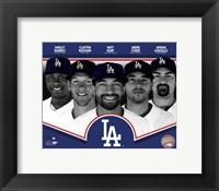 Framed Los Angeles Dodgers 2013 Team Composite