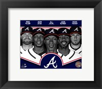 Framed Atlanta Braves 2013 Team Composite