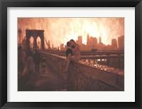 Framed Les Amoureux De Brooklyn Bridge