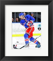 Framed Derek Stepan 2012-13 with the Puck