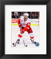 Framed Henrik Zetterberg on Ice 2012-13
