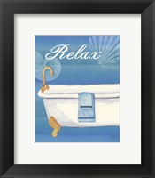 Framed Seashells Spa II (No Border)