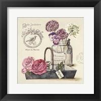 Framed Bouquet Naturel IV