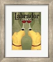 Framed Two Labrador Wine Dogs