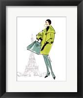 Framed Colorful Fashion II - Paris
