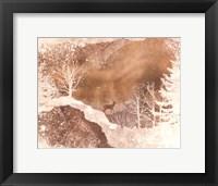 Framed Deer In The Mist