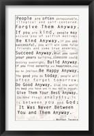 Framed Mother Teresa Quote