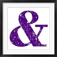 Framed Purple Ampersand